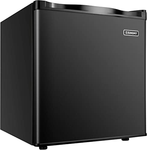Euhomy Mini Freezer Countertop, 1.1 Cubic Feet, Single Door Compact Upright Freezer with Reversible Door, Removable S...