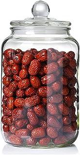 AOIWE Pors d'épices Bouteilles de Verre Cuisine Scellée Couleurs de Stockage Alimentaire Jar Transparent Café Grains Grand...