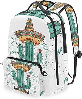 Mochila con Bolsa Cruzada Desmontable, Mochila para Ordenador de Cactus, para Viajes, Senderismo, Acampada