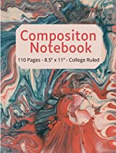 Composition Notebook: Aesthetic Marbled College Ruled, 110 pages - Stylish Classic Journal Notebook for Home, Work, Offic...