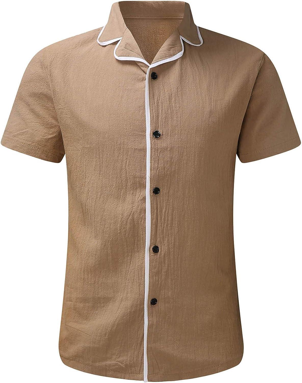 FIN86 outlet Men's Fashion Casual cheap Top Blouse Linen Cotton Ca Summer Men