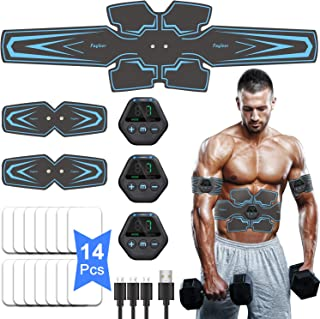 comprar comparacion fayleer Electroestimulador Muscular Abdominales, EMS Estimulación Muscular Masajeador Eléctrico Cinturón con Pantalla LCD,...
