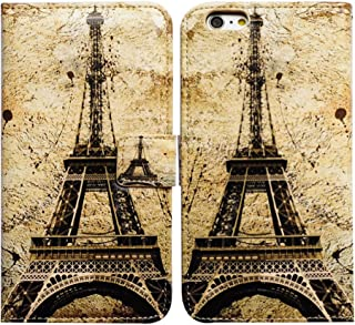 Bfun Packing Bcov Retro Paris Tower Magnetic Card Slot Stand Flip Leather Wallet Cover Case For iPhone 4 4G 4S