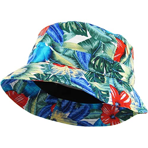 eab3d497d30 KBETHOS Floral Print Bucket Hat Hawaii Hat Cap