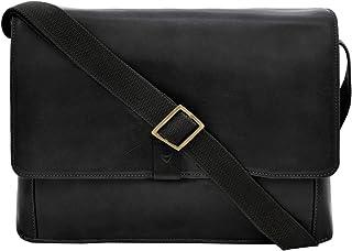 Hidesign Men's Aiden Leather Business Laptop Messenger Cross Body Bag