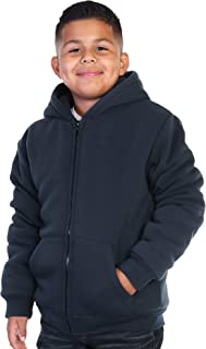 Swan Boy's Full-Zip Sherpa-Lined Hoodie Jacket