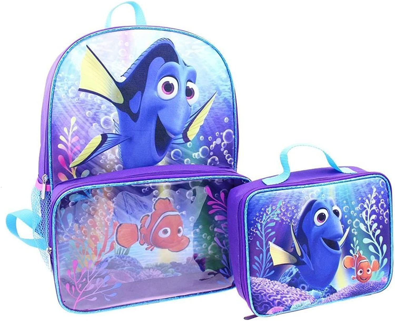 Disney Finding Dory Backpack and Lunch Bag Full Size 16 Inch by Disney