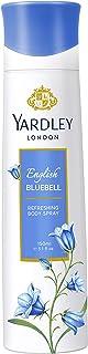 YARDLEY Blue Bell Body Spray For Women, feminine fresh, fruity floral fragrance, Jasmine, Lilly, Vanilla and Musk, 150 ml
