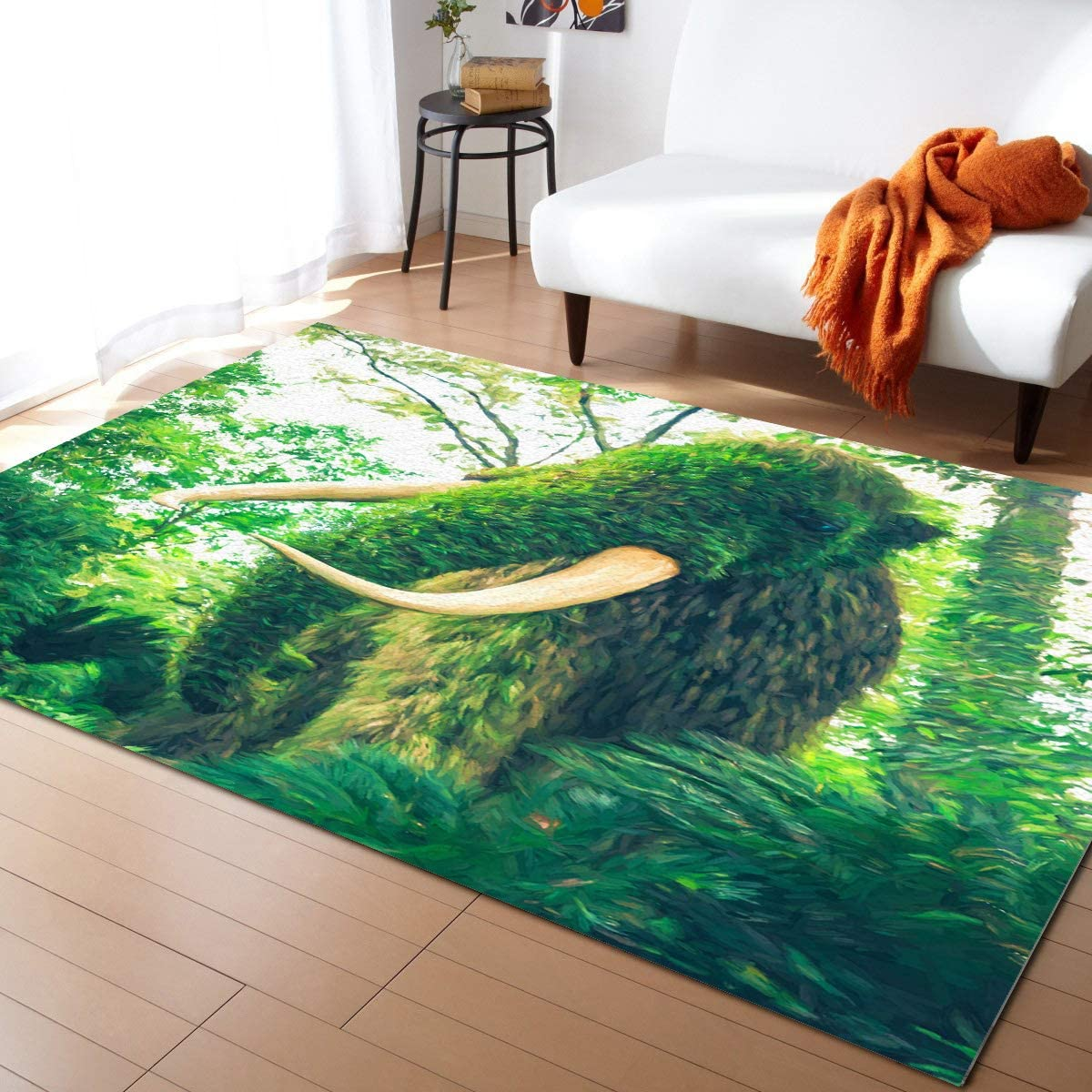 Caffling Modern Area Rugs for Living Room Las Vegas Mall Mammot Leafy Feet 3x5 2021