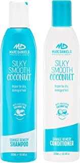 Coconut Oil Shampoo & Conditioner Set - Sulfate Free - Repairs, Nourishes, Hydrates, Strengthens All Hair Types Including Color Treated, Women & Men by MARC DANIELS Professional