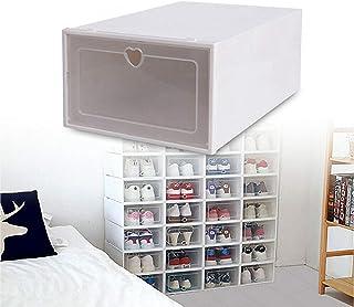 Boîte à Chaussures,Boîtes à Chaussures Empilable,Lot de 20 Boîte de Rangement pour Chaussures en Plastique,Transparent ave...
