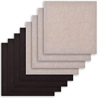8 Pack Two Colors - Self Adhesive Square Furniture Felt Pad Surface Protector for Hardwood, Tile, Laminated Floor - Cut into Any Shape - 8 Pack