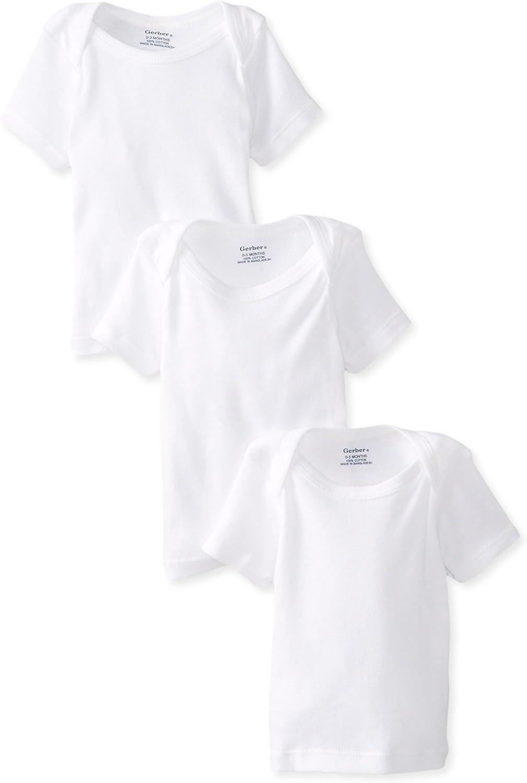 Gerber Baby 3-Pack Short-Sleeve Slip-on Shirts