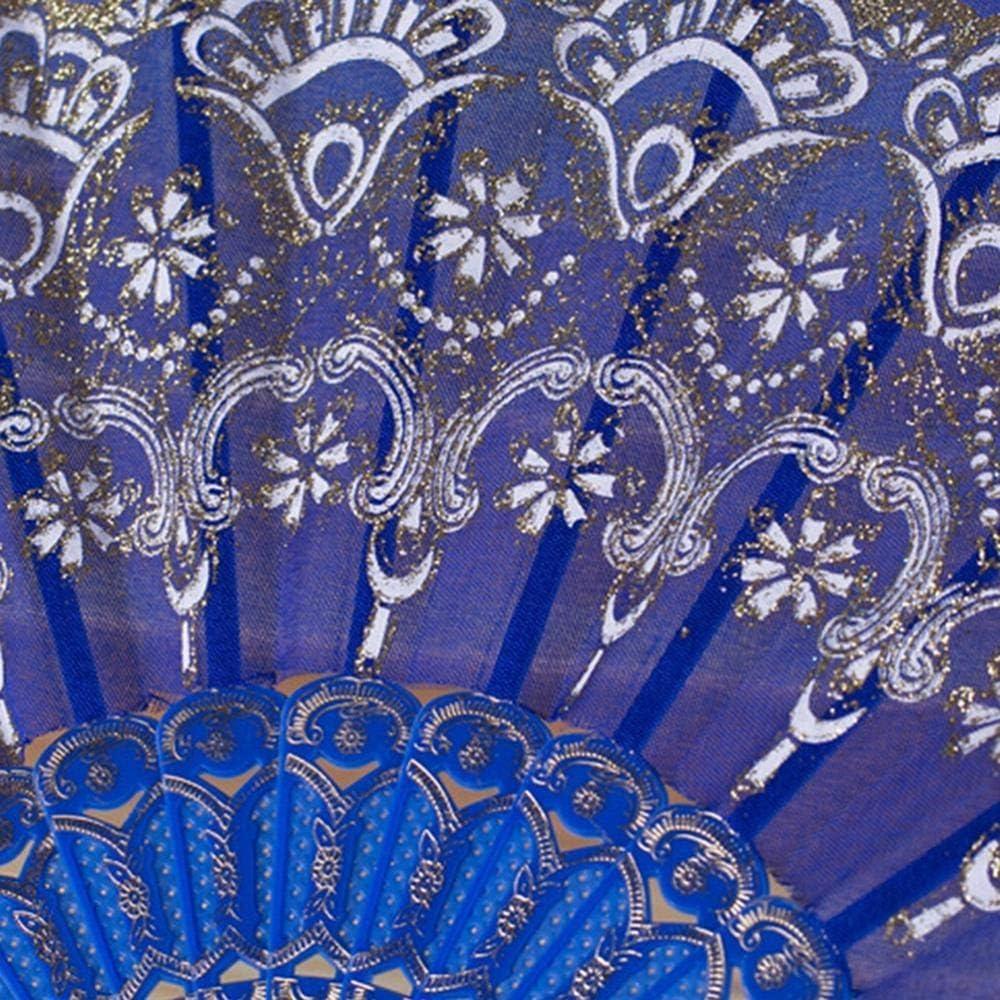 Éventail pliable Kakymjxnj en dentelle bronzante - Décoration de la maison - 7 types de peinture florale 4