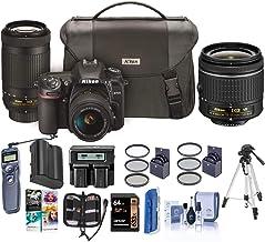 $1366 » Nikon D7500 DSLR with AF-P DX NIKKOR 18-55mm VR + 70-300 ED VR Lenses, Bag - Bundle with 64 SDXC Card, Tripod, Spare Batte...