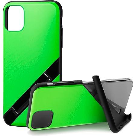カンピーノ campino iPhone 11 ケース OLE stand スタンド機能 耐衝撃 スリム 動画 Qi ワイヤレス充電対応 ネオン グリーン 緑 NEON