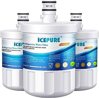 ICEPURE 5231JA2002A Refrigerator Water Filter,Compatible with LG LT500P, GEN11042FR-08, ADQ72910901, ADQ72910907, LFX25974ST, LFX25973S, Kenmore 9890, 469890 3PACK