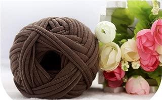 100g/pcs New Fancy Yarns for Hand Knitting Thick Thread Crochet Candy Colored Cloth Yarn Ribbon Hand Knit Wool Hat Yarn Craft,NO.30 Coffee