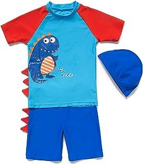20a27fc863 Boys' UPF 50+ Sun Protection Swim Shorts & Rashguard Set (Little Kid,