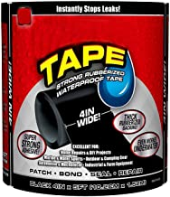 "QUARK MART Waterproof Flex Tape,Seal Repair Tape, Super Strong Adhesive Sealant Tape to Stop Leakage of Kitchen Sink/toilet Tub, leak stop, stop leak tape, Black 4"" X 5' (Black)"