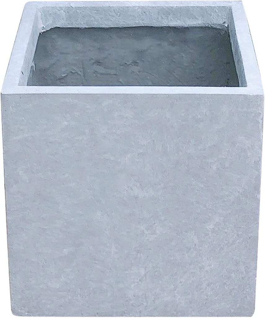 Kante RF0001A-C60611 Lightweight Concrete Save money Outdoor Modern Square Free Shipping Cheap Bargain Gift