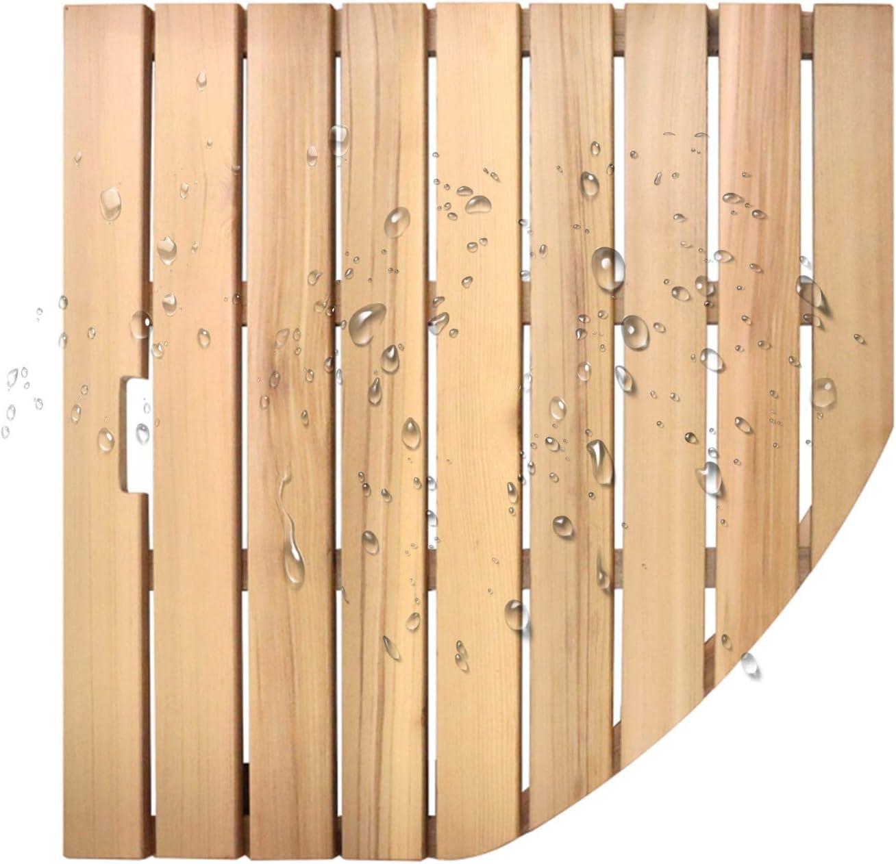 JIAJUAN Natural Wood Shower Bath Drain Board Max 84% OFF Philadelphia Mall Sector Non-Sli Mat