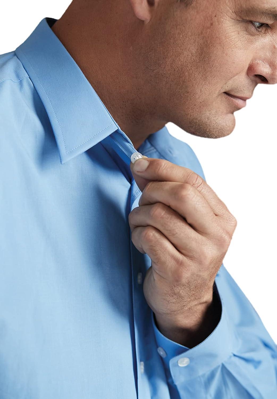 KingSize KS Signature Men's Big & Tall No Hassle Long-Sleeve Dress Shirt - Tall - 19 35/6, Shadow Blue Geo