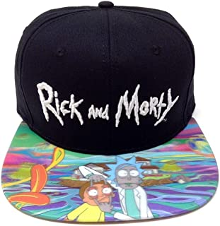 ec5ee6d0a7d64 RICK AND MORTY 3D Holographic Sublimated Bill Snapback Hat