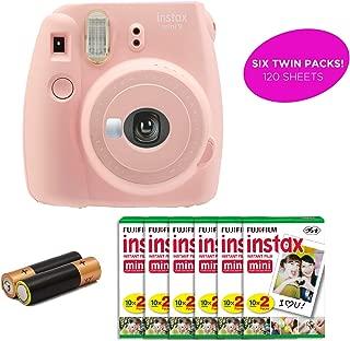 Certified Amazing - Instax Mini 9 & Instax Mini 7S Instant Camera Product Bundles   Film Pack Options   Renewed (Mini 9 + 6 Film Pack, Rose Quartz)