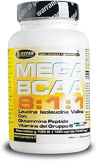BCAA 8 1 1 Aminoácidos Ramificados 200 Tabletas 270 gr con Péptido