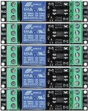 Eagles 5pcs 1 Channel 3V Relay Module with Optocoupler for ESP8266 Module,3v Logic Level Boards,Raspberry Pi 3.3v Application