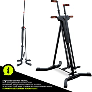 Sportstech innovativer 2in1 Stepper & Vertical Climber Fitness - Klettern - Kletterbewegungen, klappbar, multifunktional V...