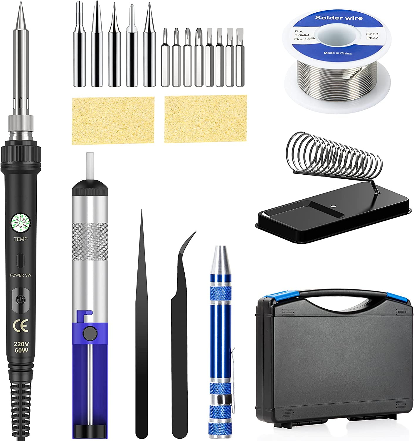 Ranking integrated 1st place Soldering Iron Kit 60W Adjustable Temperature Welding With Same day shipping Tool