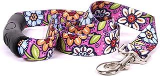 "Yellow Dog Design Pink Garden EZ-Grip Dog Leash with Comfort Handle, Small/Medium-3/4"" Wide 5' (60"") long"