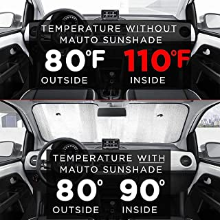 Front Windshield Sun Shade Car Sunshades Line Heart Foldable Car Windscreen Sun Shade UV and Sun Protection Universal Fit Cars SUVs Trucks Vans 51x27.5 Inches