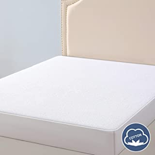 VAELY Full Waterproof Mattress Pad Protector Cover, Premium Hypoallergenic Breathable Cotton Vinyl Free Bed Cover