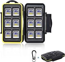 12 Slots SD Card Case Holder, SD Card Holder SD Card Organizer SD Card Storage Water-Resistant Anti-Shock SD/SDHC/SDXC Car...