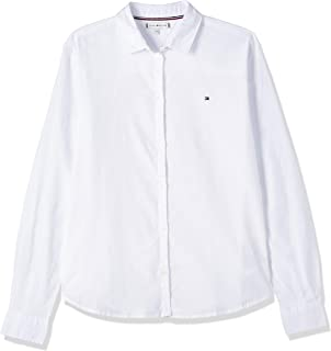 Tommy Hilfiger Girl's Blouse, White (Bright White), 80