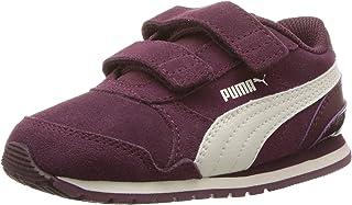 PUMA Kids' ST Runner SD 魔术贴运动鞋 Fig-whisper White 11 M US 儿童