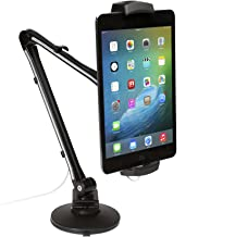 CTA Digital Pad-UAM Pad-UAM Ultra-Light Arm Mount with Clamp and Suction Bases for Tablets/Smartphones