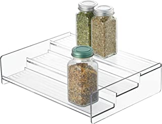 iDesign Linus Plastic Stadium Spice Rack, 3-Tier Organizer for Kitchen Pantry, Cabinet, Countertops, Shelf, 8.12