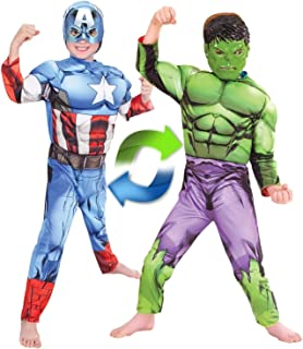 Rubie's Marvel - Hulk to Captain America Deluxe Reversible Child Costume, Size 4-6