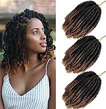 Spring Twist Crochet Hair Bomb Nubian Twist Braiding Hair 1BT27 8 Inch Spring Twist Hair 3 Packs