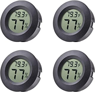 Mini Hygrometer, 4-Pack Thermometer Hygrometer Digital LCD Monitor Indoor Outdoor Humidity Meter Gauge for Humidifiers Dehumidifiers Greenhouse Basement Babyroom, Measure in Fahrenheit/Celsius ℉/℃