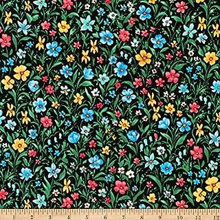 Robert Kaufman 0567774 Kaufman London Calling Lawn Multi Flowers Fabric by The Yard, Multicolor