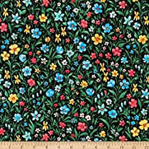 Robert Kaufman 0567774 Kaufman London Calling Lawn Multi Flowers Fabric by The Yard, Multicolor