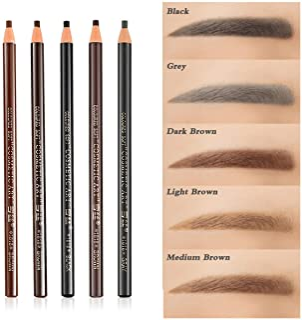 5 colours Set Eyebrow Pencil Drawing Eye Brow Pen Peel Off Makeup Cosmetic