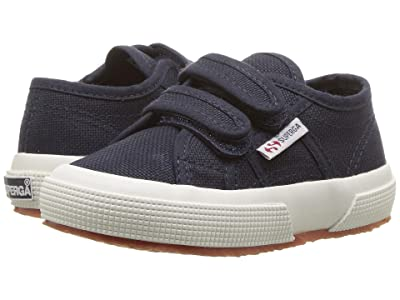 Superga Kids 2750 JVEL (Toddler/Little Kid) (Navy/White) Kid