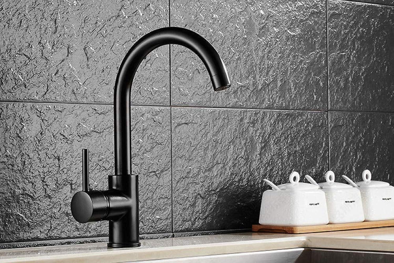 ZHAOSHOP Wasserhahn schwarz Küchenarmatur drehbare Spüle Spüle Ellenbogen Wasserhahn