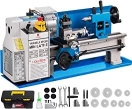 "BestEquip Metal Lathe 7"" x 14"",Mini Metal Lathe 0-2250 RPM Variable Speed,Mini Lathe with 4"" 3-jaw Chuck,Bench Top Metal L..."